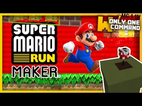 Minecraft: SUPER MARIO RUN MAKER With Only One Command Block (Build Your Own Levels!)