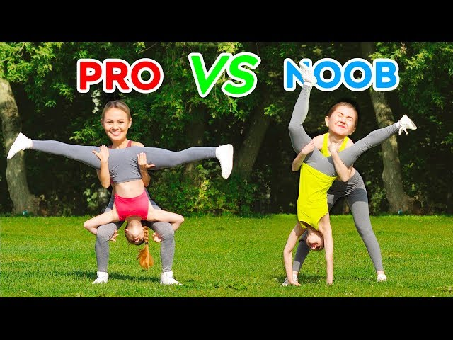 IMPOSSIBLE ACROBATICS CHALLENGE! PRO vs NOOB Spin the Mystery Wheel || Gymnastic Tricks