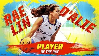 Rae Lin D'Alie (Italy)   Player of Day 2   FIBA 3x3 World Cup 2018
