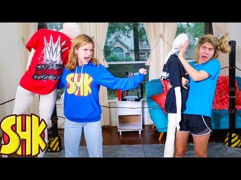 WWE FAMILY BATTLE For Noah! Funny SuperHeroKids Sis Vs Bro WWE Compilation!
