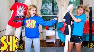WWE FAMILY BATTLE For Noah! Funny SuperHeroKids Sis vs Bro WWE Compilation!