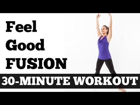 30-Minute Feel Good Fusion Workout - Barefoot Cardio, Pilates, Barre, Yoga Mix