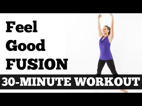 30-Minute Feel Good Fusion Workout Barefoot Cardio, Pilates, Barre, Yoga Mix