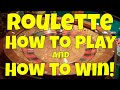 How to Play Roulette - YouTube