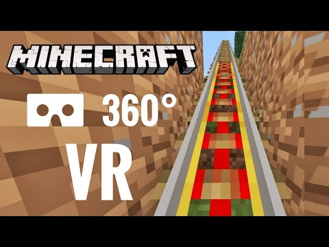 MINECRAFT 360° VR video Roller Coaster 360 degree Theme Park 4K Virtual Reality PSVR