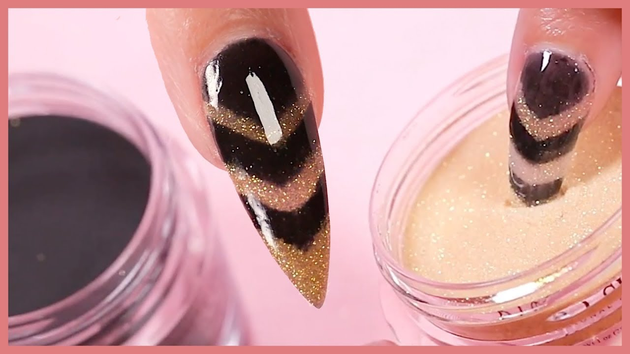 Easy Dip Powder Nail Art