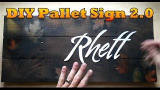How to Make Pallet Project Letters the Easy Way - OurHouse DIY