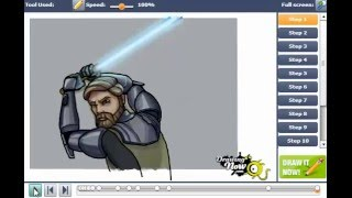 How to Draw Obi Wan Kenobi from Star Wars The Clon