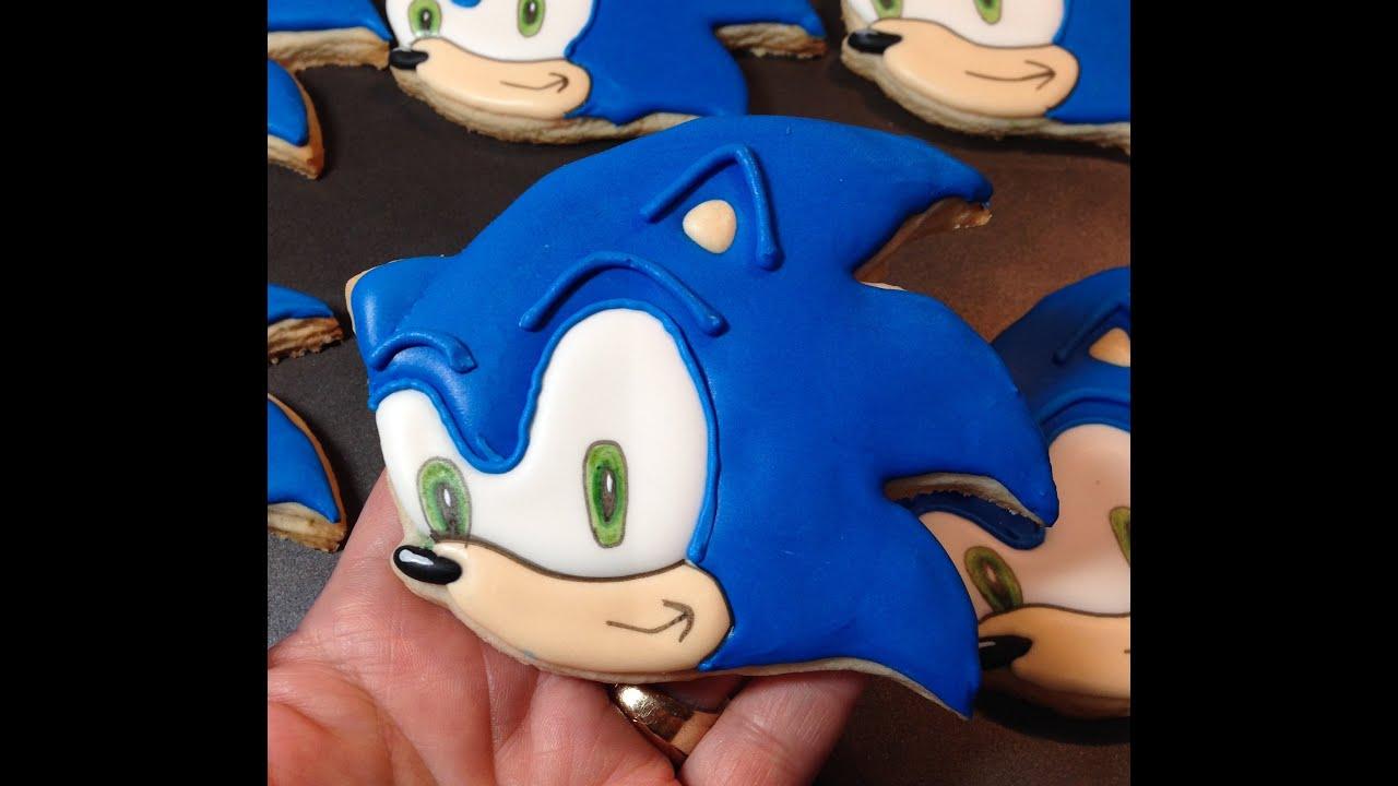 How To Make Sonic The Hedgehog Sugar Cookies Youtube