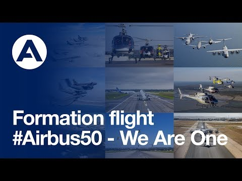 Airbus product line formation flight: 50-year anniversary