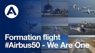 airbus product line formation flight 50 year anniversary