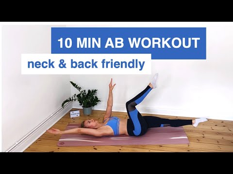10 MIN NECK FRIENDLY AB WORKOUT | no more neck and lower back pain