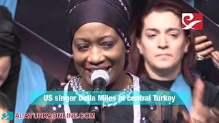 US singer Della Miles in central Turkey