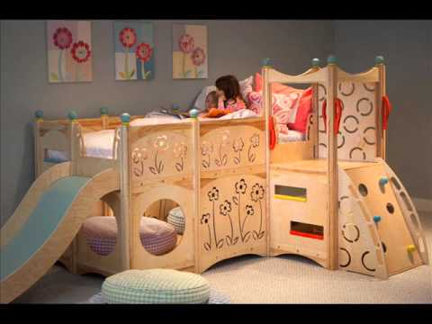 bunk bed with slide bunk bed with slide and swing youtube. Black Bedroom Furniture Sets. Home Design Ideas