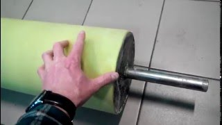 Покрытие вала полиуретаном. Полиуретанизация. Нанесение полиуретана на металл.(, 2016-05-05T09:31:53.000Z)