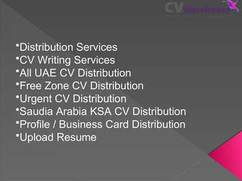 CV Writing Services Dubai