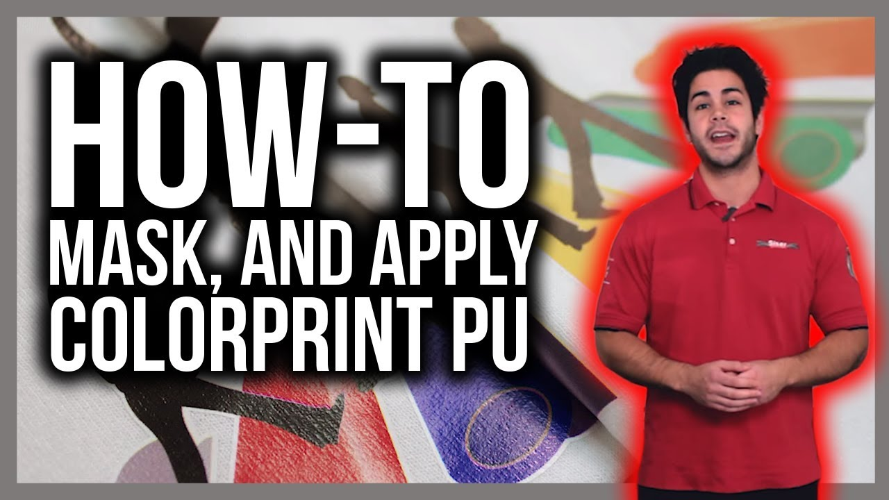 how to mask and apply colorprint pu print and cut material on t shirts