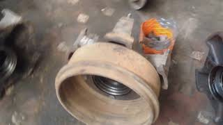 Самое длинное видео!!!Снятие кабины на ремонт,замена опорного кольца задней ступицы.Камаз Проэкт #2.