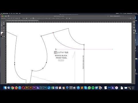 Using the pen tool to draft patterns in Adobe Illustrator - Digital pattern cutting tutorial