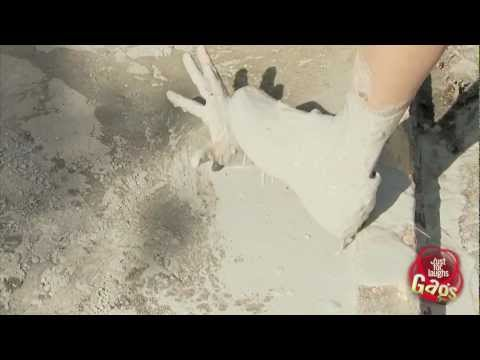 Creepy Hand In Cement Prank