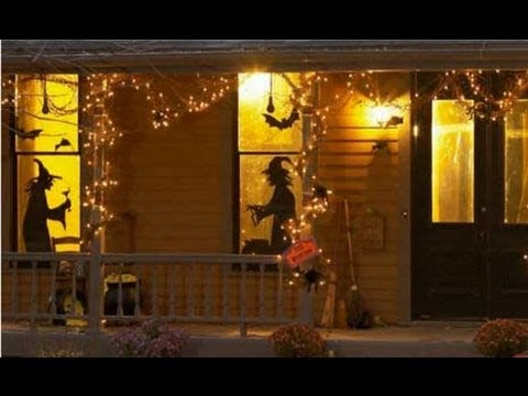 witch outdoor halloween decorations youtube