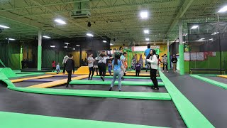 Birthday Party's Fun Time At The Indoor Trampoline Park  Video For Kids And Family
