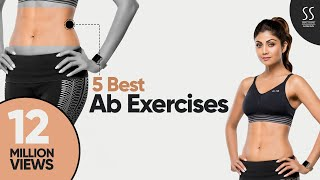 5 Best Ab Exercises| Shilpa Shetty Kundra| Simple Soulful App