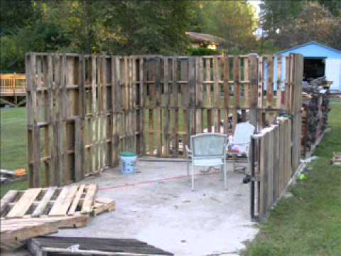Pallet shed - YouTube
