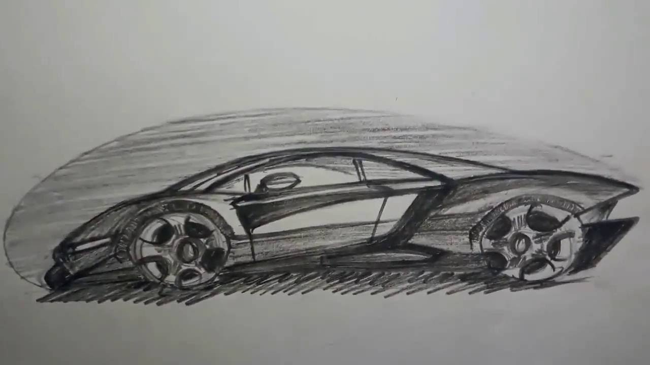 How To Draw And Shade Super Cars Beginner S Youtube
