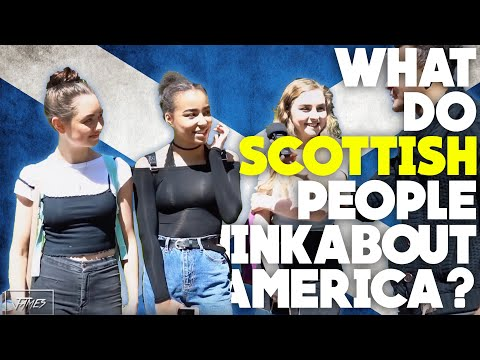 What do SCOTTISH people think about AMERICA IN 2018?