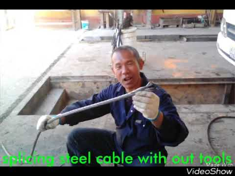 HOW TO SPLICE STEEL CABLE WIRE W/O TOOLS
