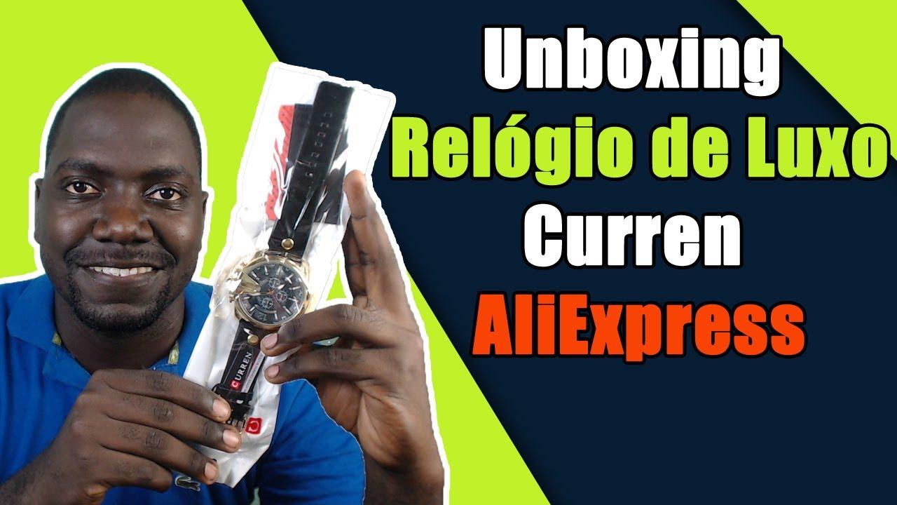 af860c069fb Unboxing Relógio de Luxo Curren Aliexpress - Relógio de Luxo ...