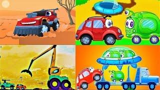 Мультики про Машинки для Детей. Красная Машинка Редди и Вилли 8 все серии подряд Новые Мультики 2017