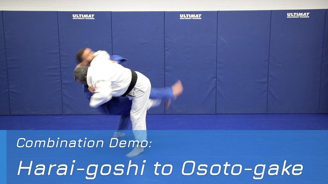 Harai-goshi to Osoto-gake - Combination demo
