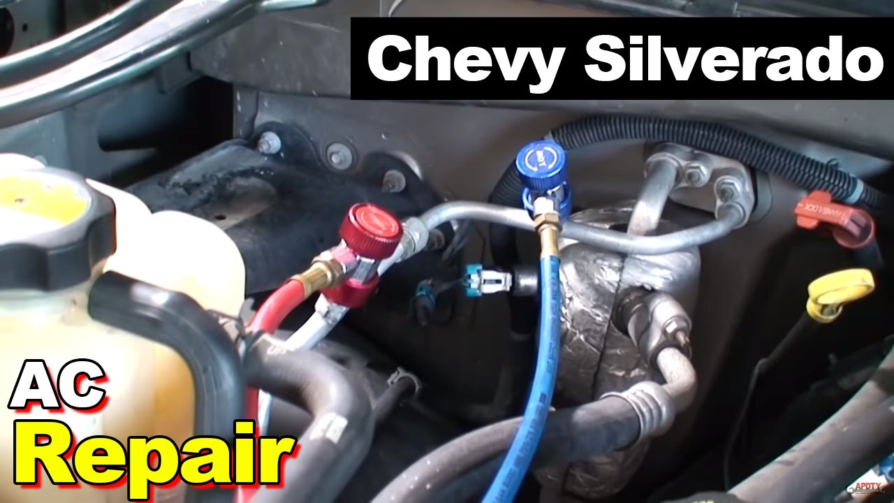 clogged up ac condenser radiator replaced w receiver dryer and orifice tube on a 2000 silverado [ 1280 x 720 Pixel ]