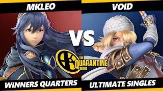 The Quarantine Series Winners Quarters - MKLeo (Lucina) Vs. VoiD (Sheik) Smash Ultimate - SSBU