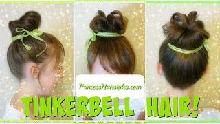 Tinker Bell Hairstyle Tutorial & Faux Bangs Made From Your Own Hair!