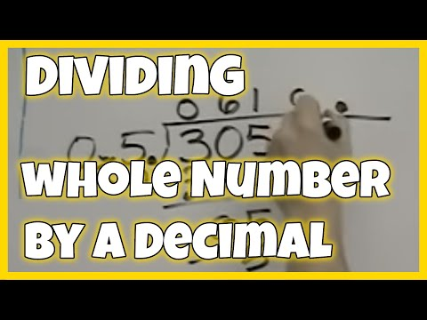 Dividing a whole number by a decimal