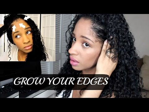 how to grow bald edges fast
