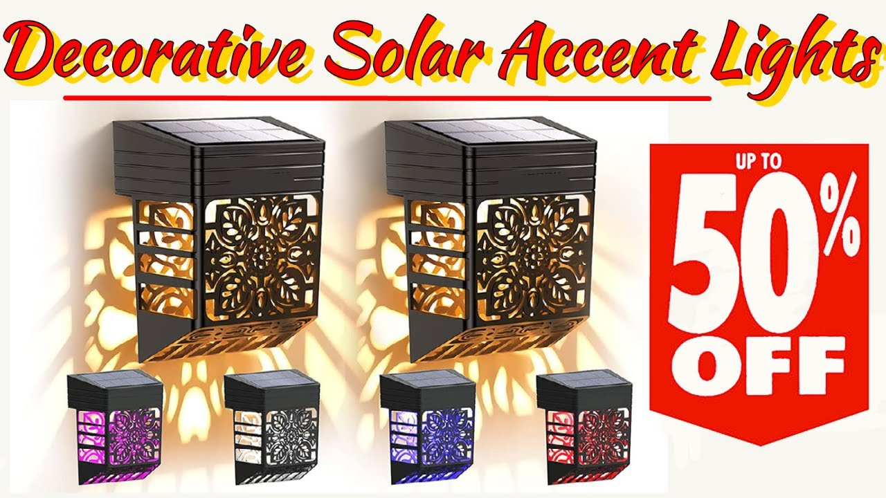 Decorative Solar Accent Lights for Decks, Fences & Walkways Save 50% Right Now!
