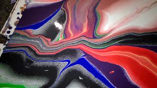 pintando con la técnica  Pouring...desde Asturias