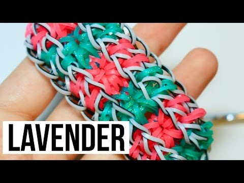 Rainbow Loom Lavender Bracelet | One Loom Tutorial