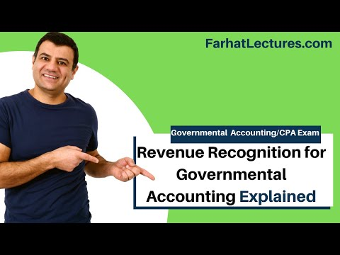Revenue recognition for governmental accounting FAR CPA exam default