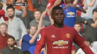 FIFA 17 OFFICIAL GAMEPLAY FULL MATCH - MANCHESTER UNITED vs. MANCHESTER CITY FIFA 17