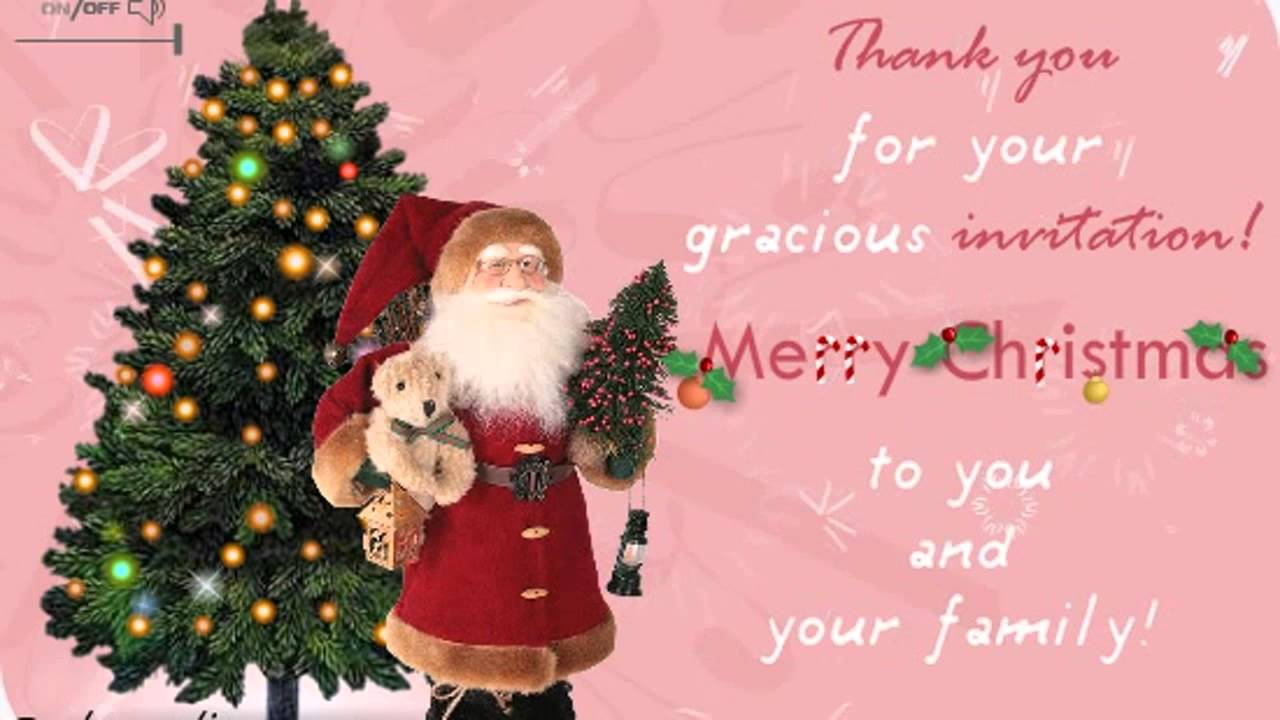 Merry Christmas Thank You Ecards Wishes Greetings Card