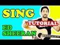 TUTORIAL CHITARRA | Sing - Ed Sheeran | Accordi e Ritmica