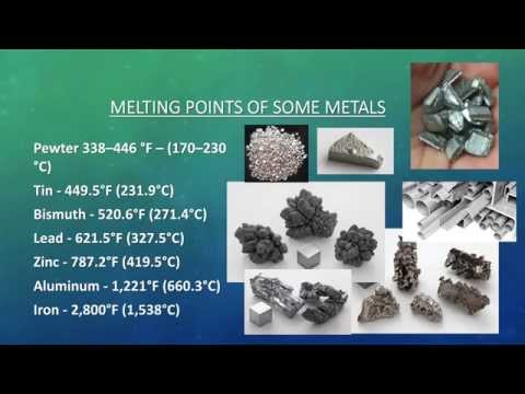 Kinds of metals, its properties, uses, melting points, electric