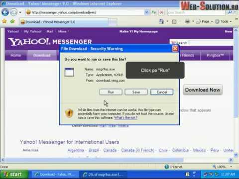 Instalare Yahoo Messenger