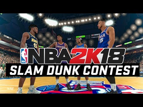 NBA 2K18 Slam Dunk Contest Gameplay