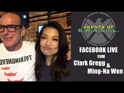 Facebook live com Clark Gregg e MingNa Wen 31.01 LEGENDADO